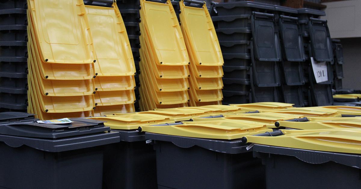 Réserve de bac jaune