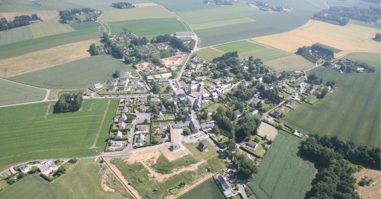 Vue aérienne de Gerville