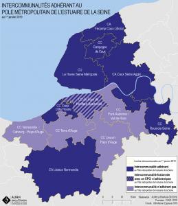 carte des intercommunalités du Pôle métropolitain
