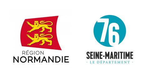 Logos Région Normandie et Département de Seine-Maritime