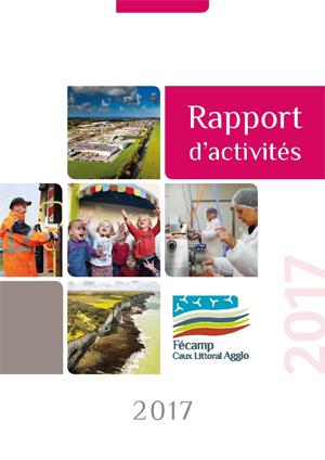 Une du rapport d'activités 2017