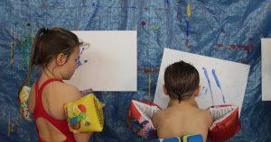 Atelier de peinture avec enfants a à LPiscine