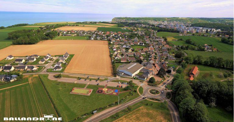 Vue aérienne de Saint-Léonard