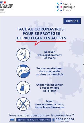 Message prevention Coronavirus