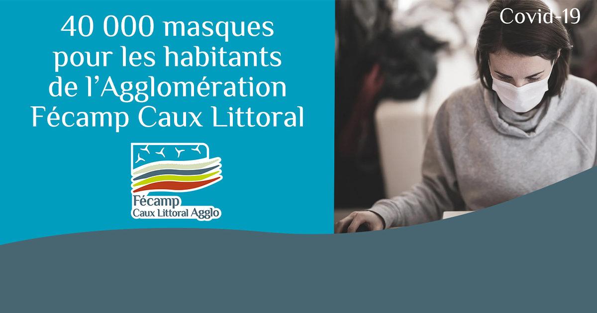 40 000 masques pour les habitants de l'Agglo