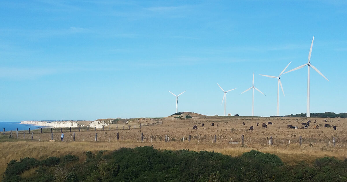 Vue éoliennes Cap Fagnet