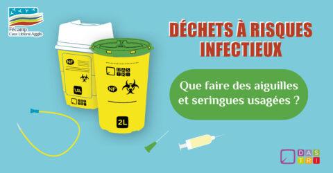 Boîtes à aiguilles pour déchets à risques